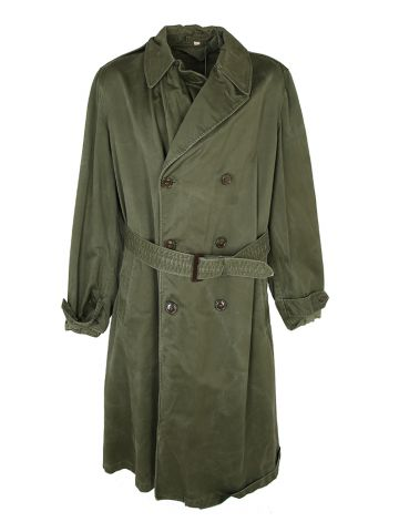 50s US Army Officers Heavyweight Trench Coat - L