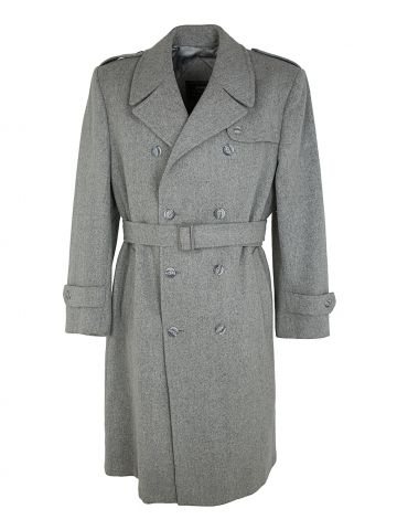 70s Sears Light Grey Trench Overcoat - XL