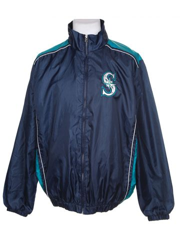 90s Seattle Mariners Navy & Blue Sports Jacket - L