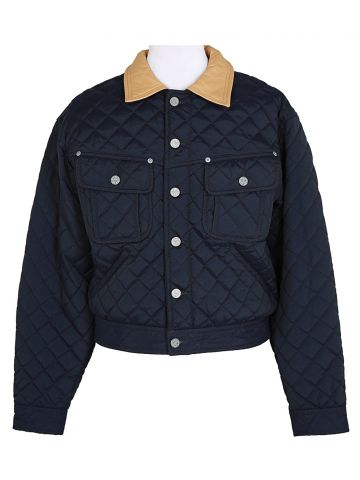 Armani Jeans Navy Quilted Jacket - XS