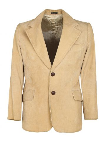 Monsieur Lauro Tan Corduroy Blazer Jacket - XS