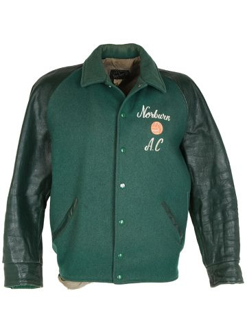 Vintage 60s Wool & Leather College Varsity Jacket - L