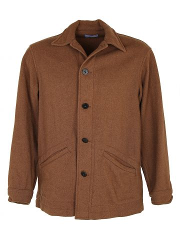 Vintage Brown Wool Pendleton Shirt Jacket - M
