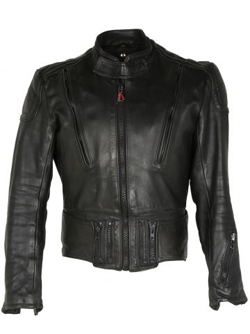 Black Leather Hein Gericke Biker Jacket - S