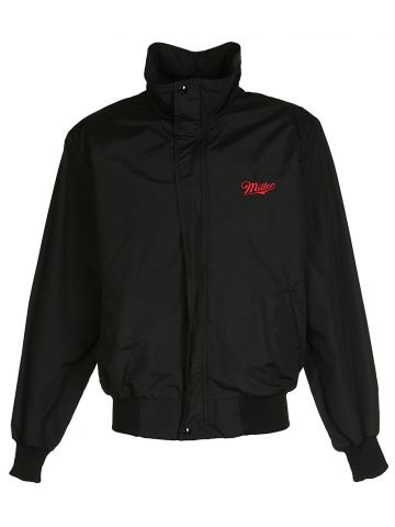 90's Black Bomber Jacket - L