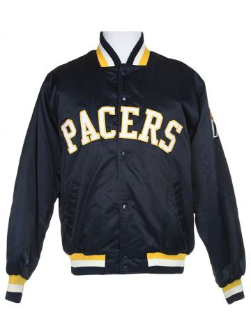 NBA Indiana Pacers Navy Blue Sport Coach Jacket - M