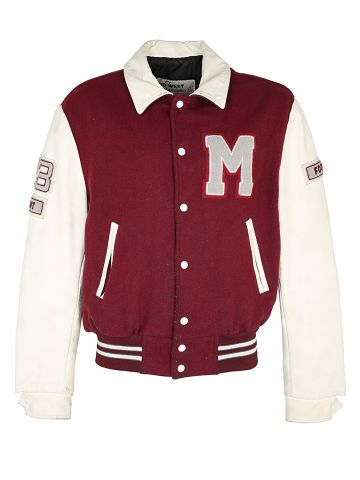 Vintage Wool & Leather Varsity Jacket - L