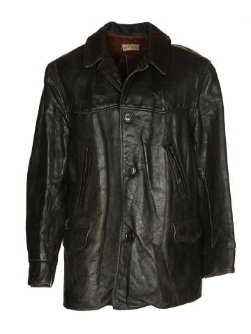 30s/40s Brown Horsehide Leather Jacket - C48