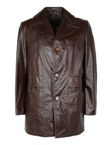 Vintage 70s Leather Sears Lined jacket - L