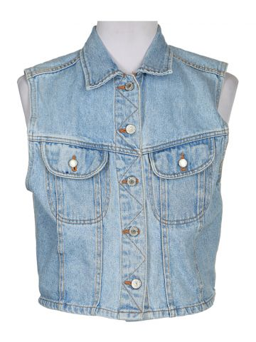 Sleeveless Denim Jacket - M/L