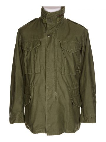 80s Green Military Field Jacket - S