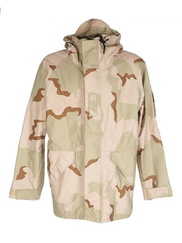 Beige Camouflage Military Field Jacket - M