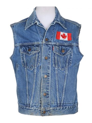 60's Levis Sleeveless Big E Denim Jacket - S