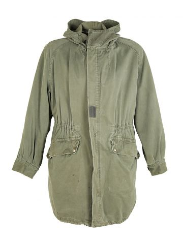 70s French Army Green Parka - L