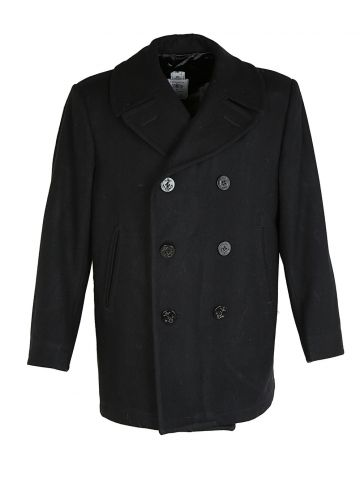 90s US Navy Pea Coat - L
