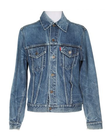Vintage 60s Levi's 'Big E'  Blue Denim Trucker Jacket - S