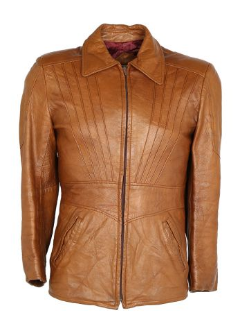 Vintage 70's Tan Leather Neto Jacket - S