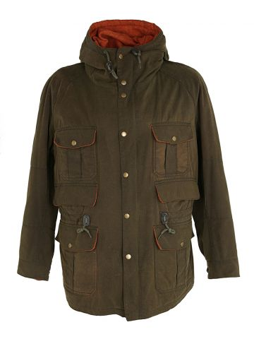 Barbour Khaki Green Coat - XL