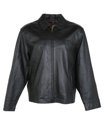Black Leather Deadstock Pendleton Leather Jacket - L