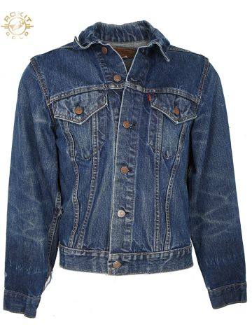 Vintage 70s Big E Levis Denim Trucker Jacket - S