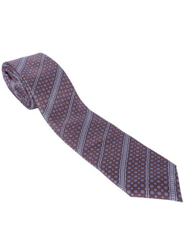 80s Oscar De La Renta Silk Patterned Tie