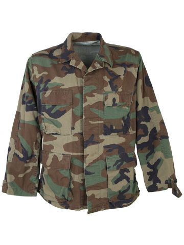 Woodland Camo US Army Shirt - M
