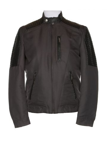 Versace Grey Biker Jacket - S