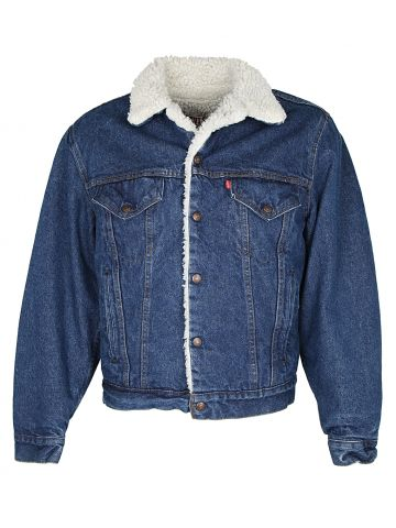 Blue Levis Denim Borg Sherpa Jacket - M