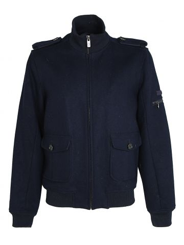 Navy Ben Sherman Military Style Jacket - M