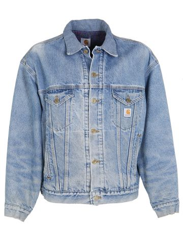 90s Carhartt Blue Denim Jacket - XL