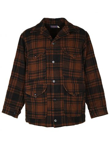 Vintage 80s Pendleton Check Macinaw Wool Hunting Jacket - L
