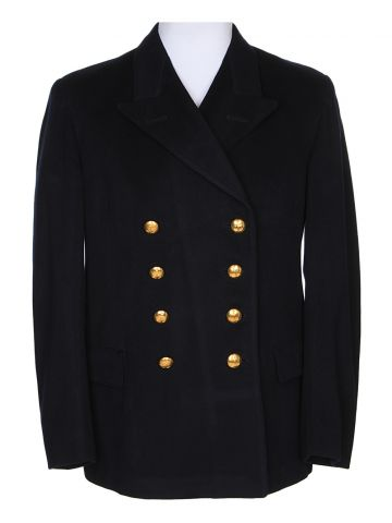Navy Blue Pea Coat - M