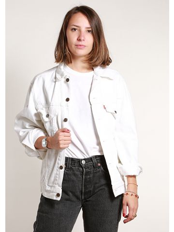 Levi's 90s White Denim Jacket - S
