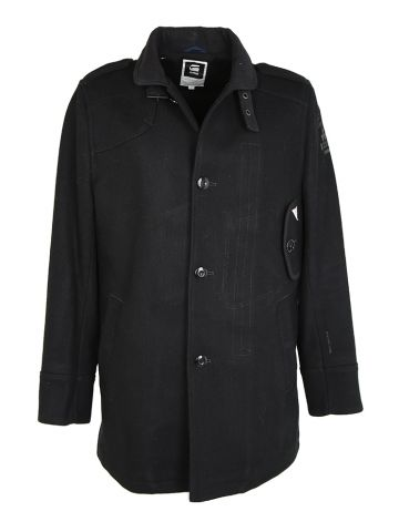 G-Star Raw Navy Military Style Coat - L