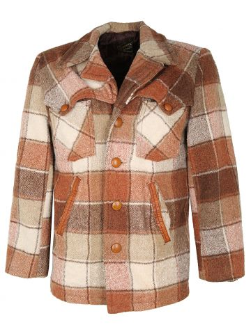 Vintage 70s Check Wool Symax Jacket - S