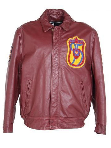 90s Burgundy Red Leather Jacket - XL