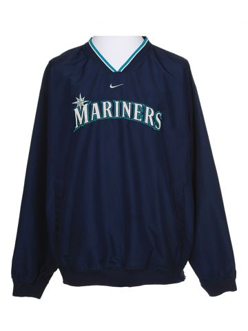 Nike Mariners Navy Zipless Windbreaker - XL
