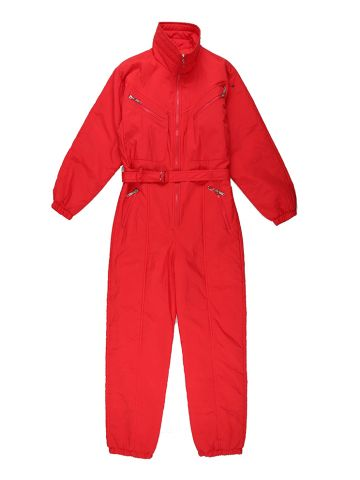 1980s Red Shell Ski Suit - M