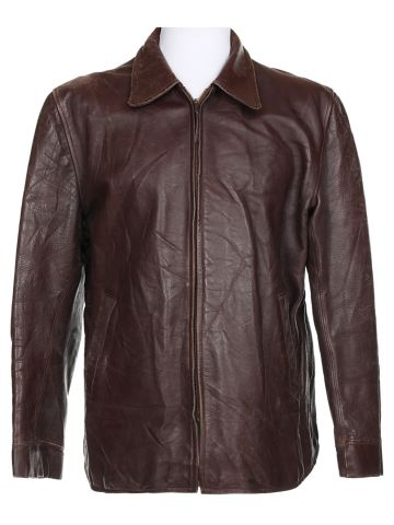 50s Horsehide Brown Leather Jacket - L