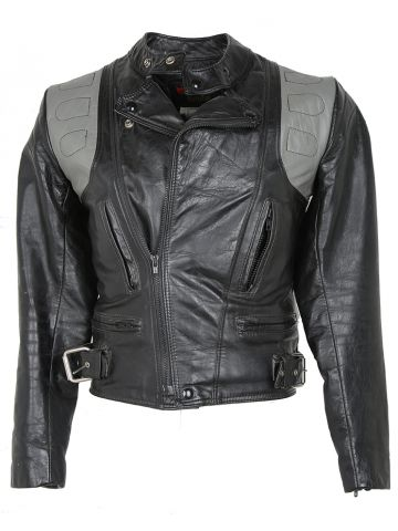 Vintage 70s Bristol Leather Biker Jacket - XS