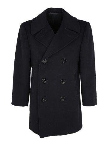 Vintage 40s US Navy Wool Pea Coat - S
