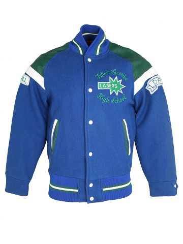 Early 80s Blue and Green Letterman Jacket - S