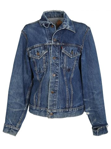 Vintage 1960s Levi's Indigo Big E Denim Trucker Jacket - S