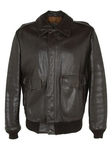 70s Oakton Brown Leather Jacket - L