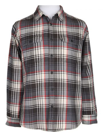 Eddie Bauer Grey Checked Shirt - L