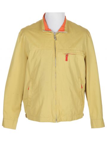 Yellow Prada Zipped Cotton Sports Jacket - L