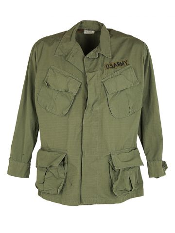 60s US Army Rip-Stop Jungle Jacket - M