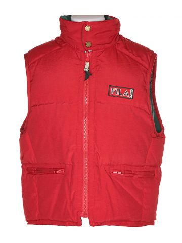 90s Fila Red Ski Bodywarmer - S