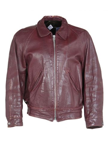 60s Burgundy Leather Jacket - L