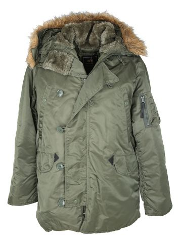 Alpha Industries N2B 70s Military Parka Coat - M